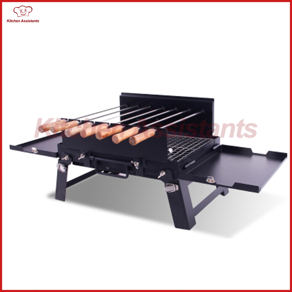 KLJ01 out door charcoal bbq <font><b>rotisserie</b></font> roaster grill with motor spit <font><b>kit</b></font> for household commerical use