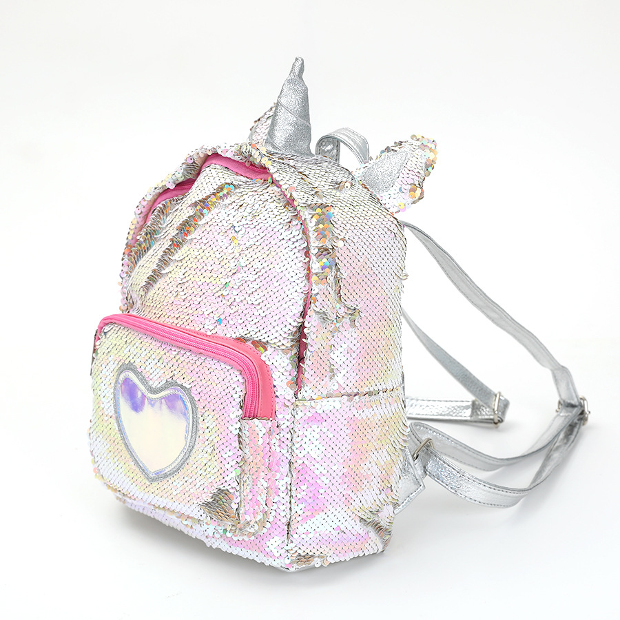 a44e46826634 New Unicorn Backpack Girl Fashion Sequined Shoulder Bag Cartoon Cute Party  Travel Backpack Women Shining School Bags-in Backpacks from Luggage   Bags  on ...