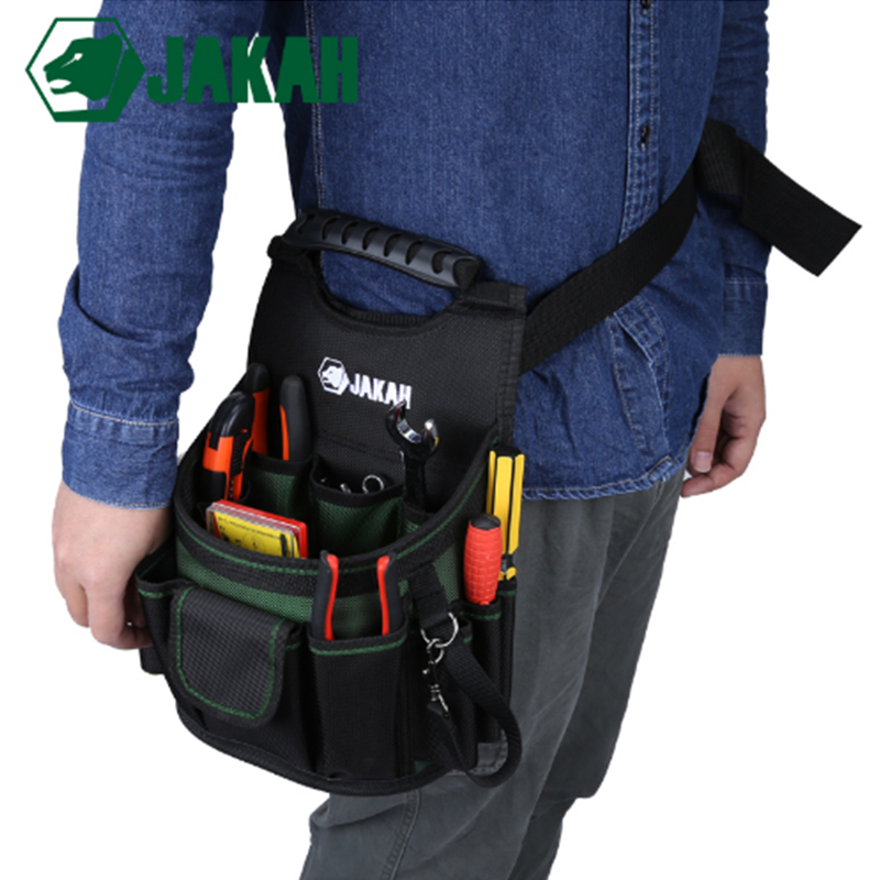 JAKAH Electrician Bag Thickening Oxford Cloth Storage Bag Hardware Waist Tools Bags Multifunction Multi-pocket Bag