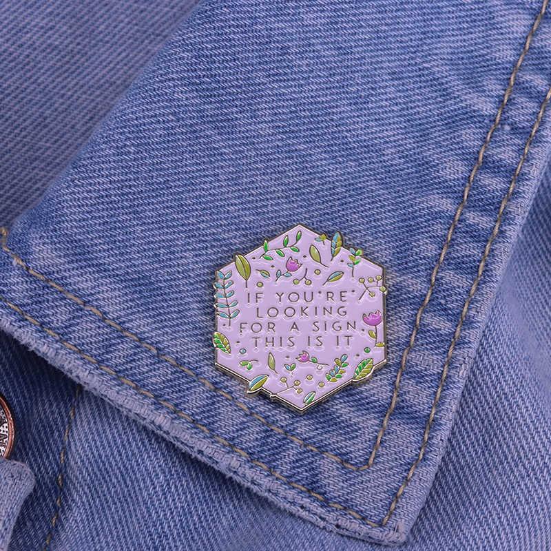 Se siete alla ricerca di un segno, questo è risvolto pin fiore foglie spilla avventura gioielli natura amante regalo bella decorazione