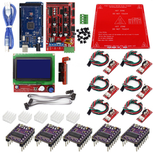Reprap Ramps 1.4 Kit with Mega 2560 r3 + Heatbed MK2B + 12864 LCD Controller + DRV8825 +Mechanical Switch +Cables for 3D Printer-in 3D Printer Parts & Accessories from Computer & Office on Aliexpress.com | Alibaba Group