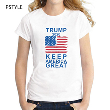 summer t shirt for women Slogan trump keep america great letters print tee shirt femme short sleeve white basic t-shirt tops striped hem slogan print hooded tee