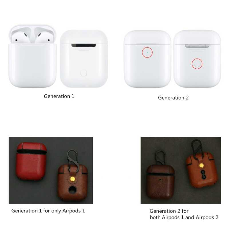 Earphone Case for Airpods Cases Apple Airpod 1 Airpod 2 Cover Leather Headphone Cases Airpods Leather Key Chain Case Accessories