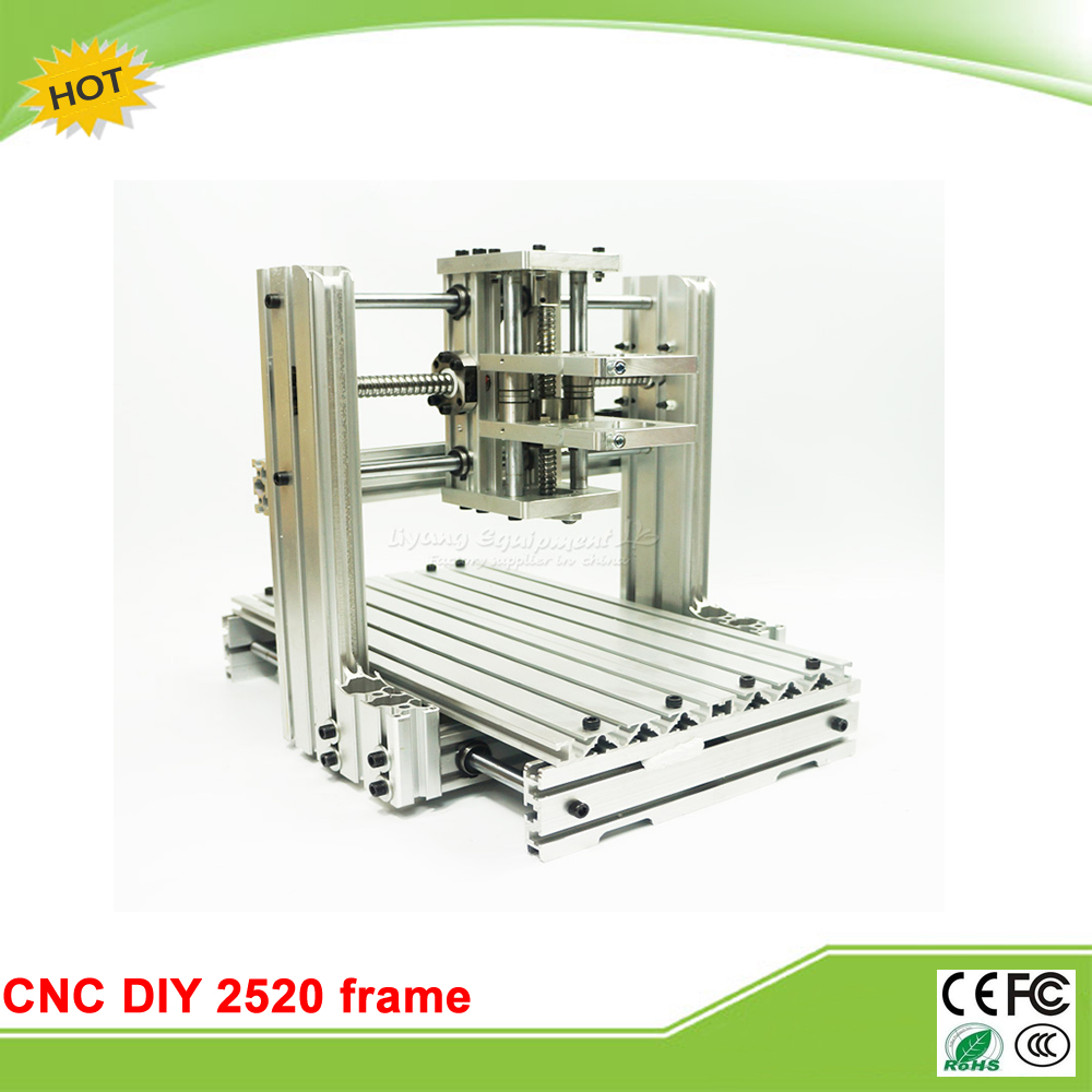 RU no tax DIY CNC machine 2520 Base frame kit  for wood router engraving cnc router engraving machine diy 2520 4axis engraving drilling and milling machine with rotary axis no tax to ru