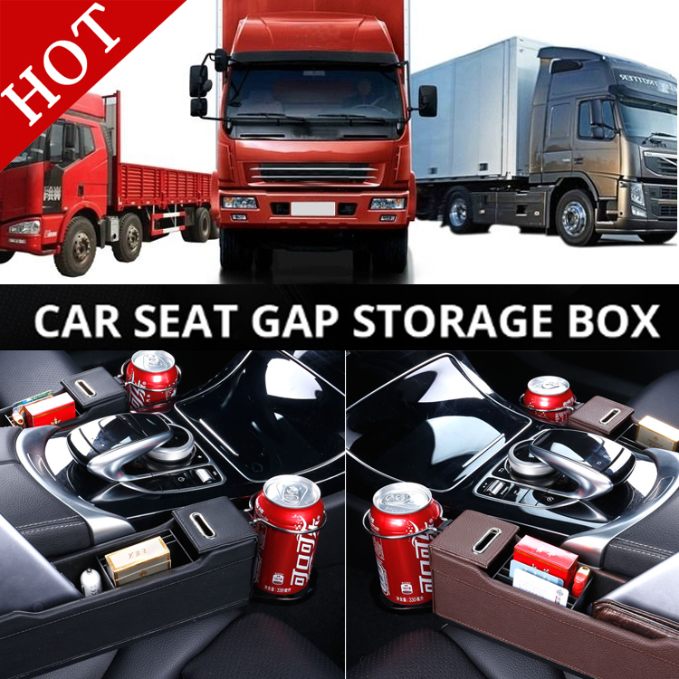 Truck RV Car Seat Gap Organizer Filler Side Pocket Storage Glove Catch Car Slit for RENAULT DEUTZ VOLVO FH FM BENZ IVECO FIAT color block slit side high low tee with chest pocket