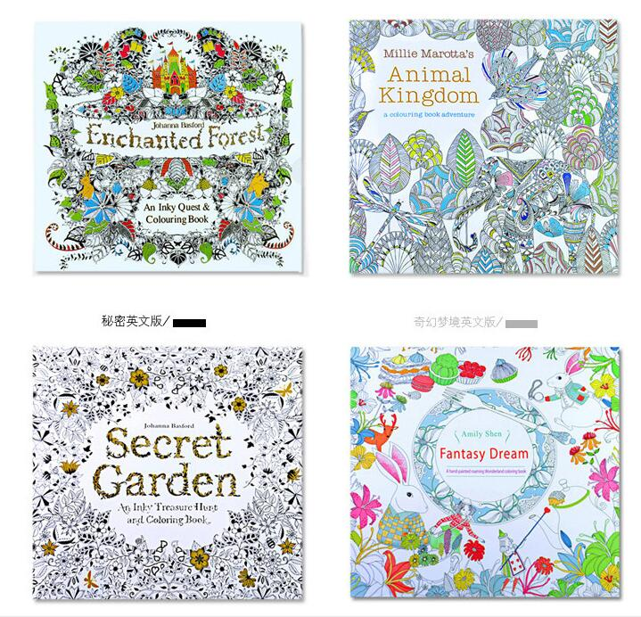 Secret Garden Relieve Stress For Children Adult Painting