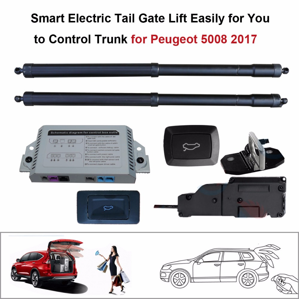 Электрический хвост ворота подъемник для peugeot 5008 2017 Управление помощью дистанционного
