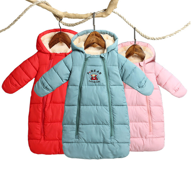 89513c8750f9 2018 Winter Thicken Baby Rompers Overalls Bodysuit Baby Clothes ...
