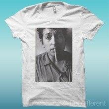 Fashion Unique Classic Cotton  MenS Short Sleeve Gift O-Neck Bob Dylan Smoke Broadcloth Shirts