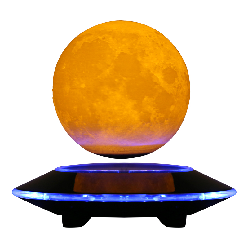 Magnetic Floating Levitation 3D Print Moon Lamp LED Night Light 2 Color Auto Change Moon Light Home Decor Creative Birthday Gift bear silicon color change rechargeable led night light