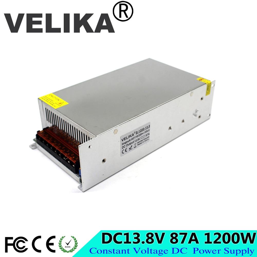 Regulated dc 13 8V Power Supply 87A 1200W Driver Transformer 110V 220V AC TO DC SMPS