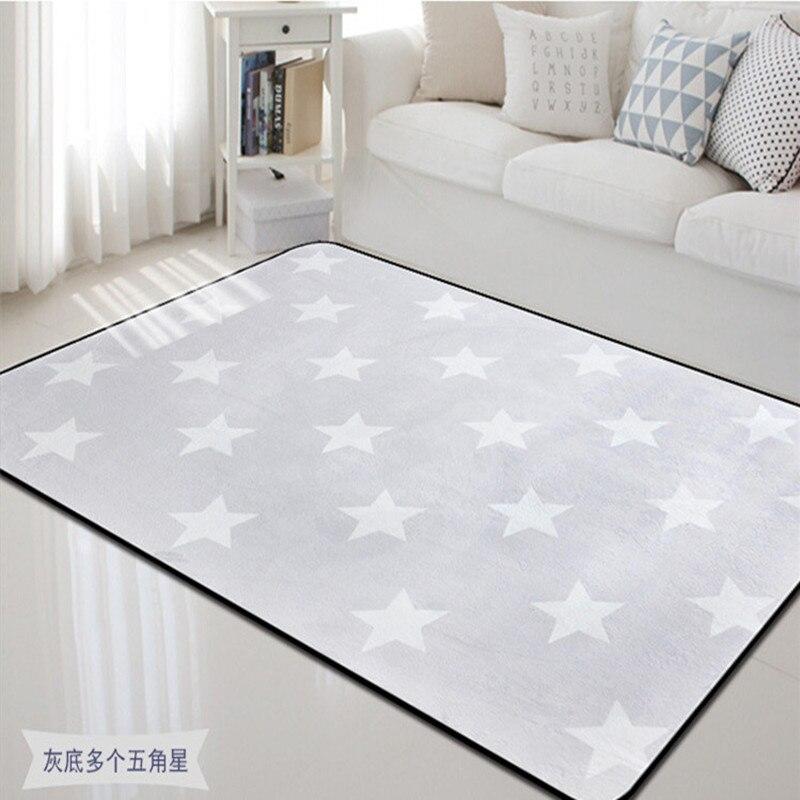 Fashion Design Pentagram Star Print Carpet Bath Anti Slip