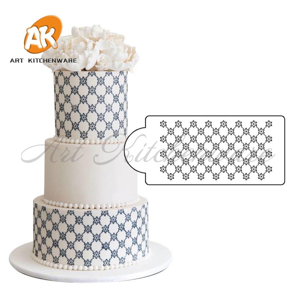 ộ_ộ ༽Princesa LACE cake stencil set boda cake decoración stencil ...