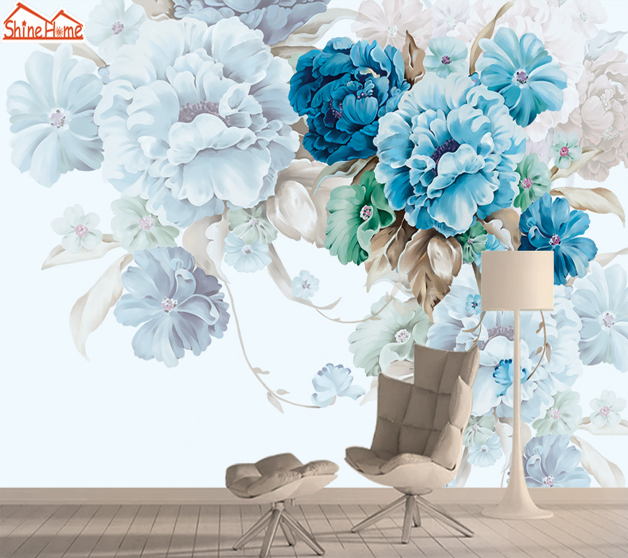 Floral Wall Paper 3d Mural Wallpaper Papers Home Decor Photo Wallpapers For Living Room Bedroom Self Adhesive Murals Walls Rolls