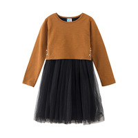 New Girls Dress Autumn Winter New Children Gauze Princess Dress Baby girls Long Sleeve Mesh Party Dresses Kids Clothes
