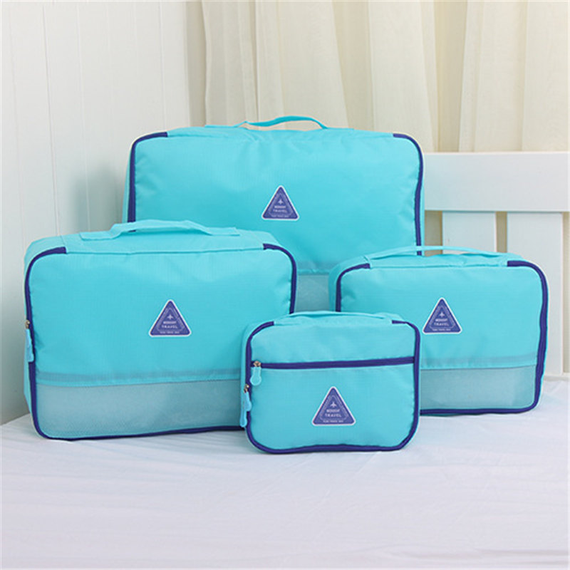 4Pcs/set Unisex 6 Colors Clothing Storage Bag Suitcase Closet Luggage Tidy  Organizer Travel Trip Cosmetic Bra Underwear Bag