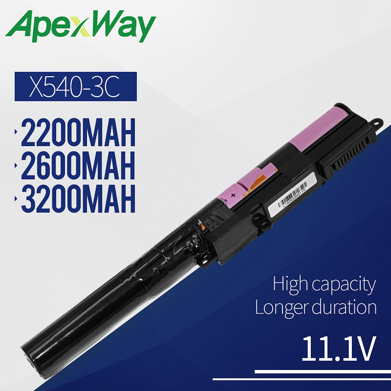 Apexway A31N1519 Laptop Battery For ASUS X540 X540L X540LA X540LJ X540S X540SA X540SC X540YA A540 A540LA F540SC R540S R540SA