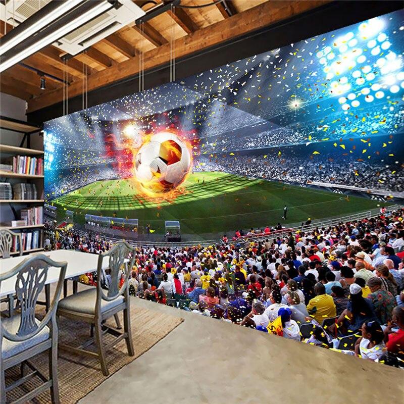 US $9 4 49% OFF|Aangepaste Foto Wallpaper 3D Stereoscopische Voetbalveld  Voetbal Grote Muurschilderingen Behang Muurschildering Slaapkamer Woonkamer