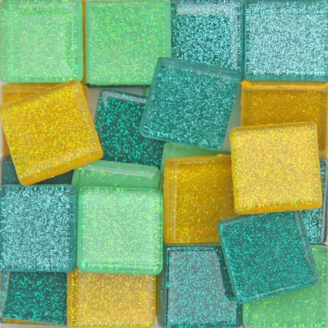 200 gram / 52pcs 2CM Square Glitter Mosaic