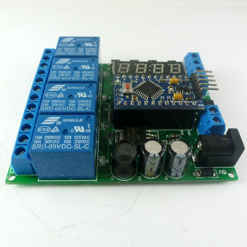 medium resolution of dc 5 24v 4ch pro mini plc board relay shield module for arduino led display cycle delay timer switch on off in relays from home improvement on