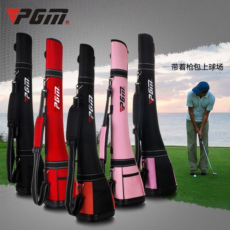 купить PGM Golf Half Gun Bag High Quality Waterproof Nylon 3-5 Standard Clubs Goods Package Ball Factory Genuine по цене 3263.88 рублей