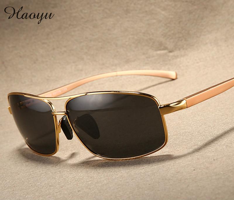 67d8939a12567 Haoyu aluminio magnesio gafas de sol polarizadas hombres gafas de sol hombre  conducción pescar g puerta Eyewears accesorios TG2458