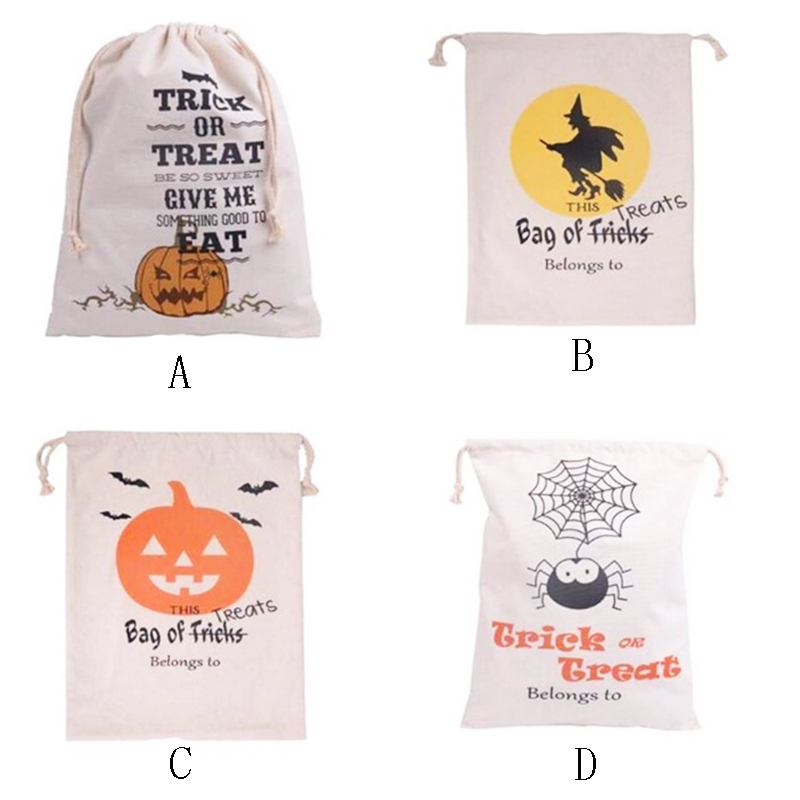 100% Baumwolle Canvas Halloween Sack Halloween - Partyartikel und Dekoration