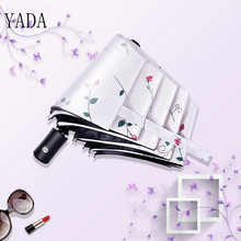 YADA Flower vine High Quality Automatic Umbrella Women uv Sunny & Rainy For Womens Windproof Folding Umbrellas YS213