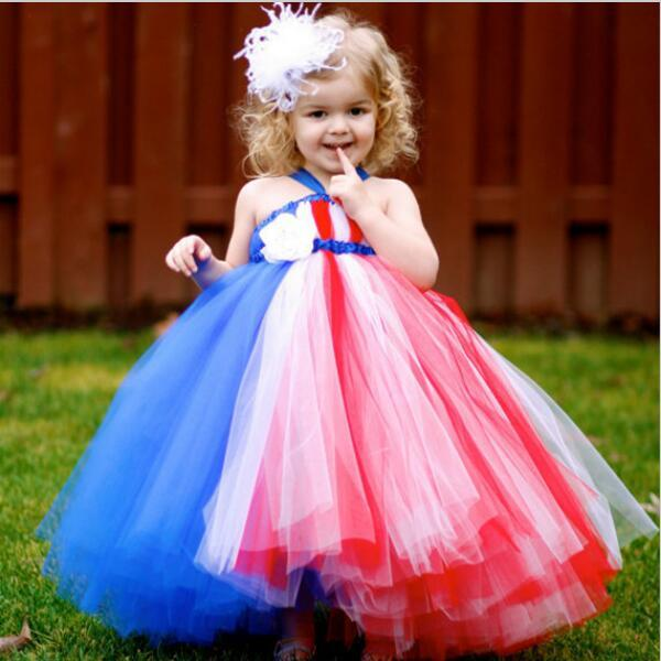 Girl Patriot Party Dress Red White Blue 4th of July Girls Toddler ...