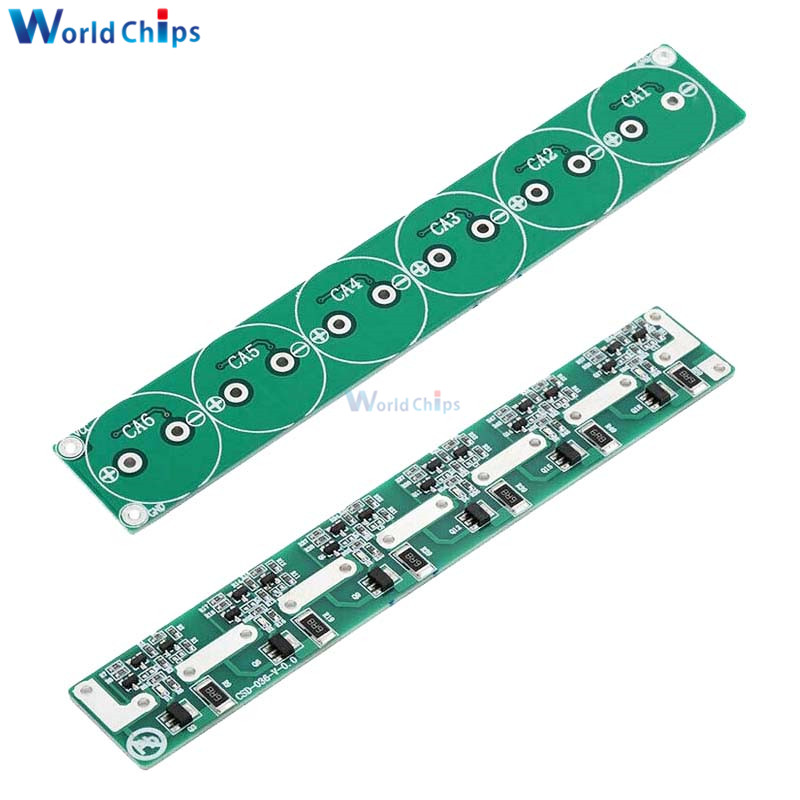 6 String <font><b>2.7V</b></font> 100F - 500F 100F 120F 220F 360F <font><b>400F</b></font> 500F <font><b>Super</b></font> <font><b>Capacitor</b></font> Balancing Protection Board Six Series High Quality image