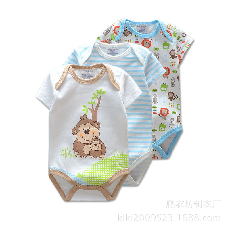 3-Pieceslot-Brand-Summer-Baby-Boys-Romper-Animal-style-Short-Sleeve-cotton-infant-rompers-Jumpsuit-cotton-Baby-Newborn-Clothes-1