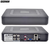 GADINAN Mini Hybrid 4CH AHDNH 1080N DVR 5 IN 1 AHDM TVI CVI CVBS 960H Security CCTV DVR HDMI DVR NVR Support 1080P IP Camera