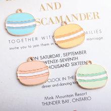 10pcs/lot New Arrival Cartoon hamburger Enamel Charms Gold Color Tone Food Pendants Oil Drop Charm 23*24mm