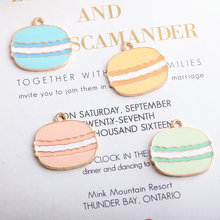10pcs/lot New Arrival Cartoon hamburger Enamel Charms Gold Color Tone Food Pendants Oil Drop Charm 23*24mm недорого