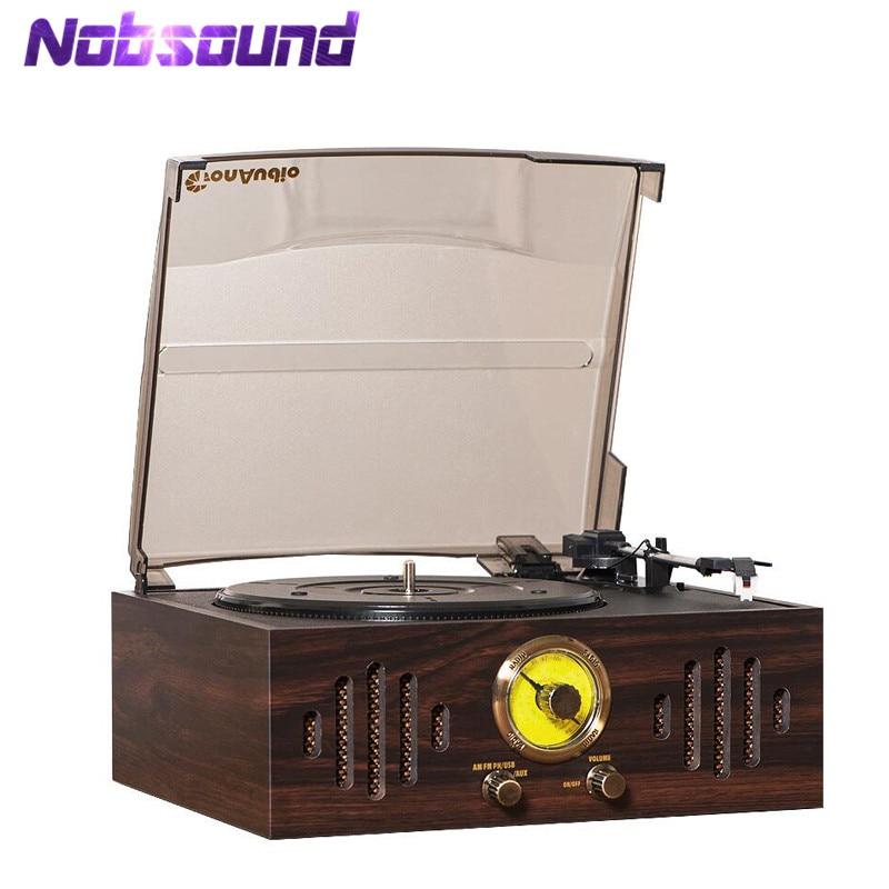 Nobsound Hi end Hi Fi Bluetooth Turntable Phono LP Vinyl Record Player AUX AM FM Radio