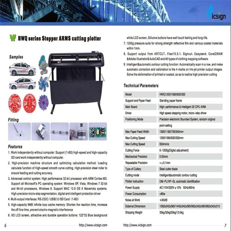 Vicsign 64 inch Cutting Plotter HWQ1600 Signmaster Software