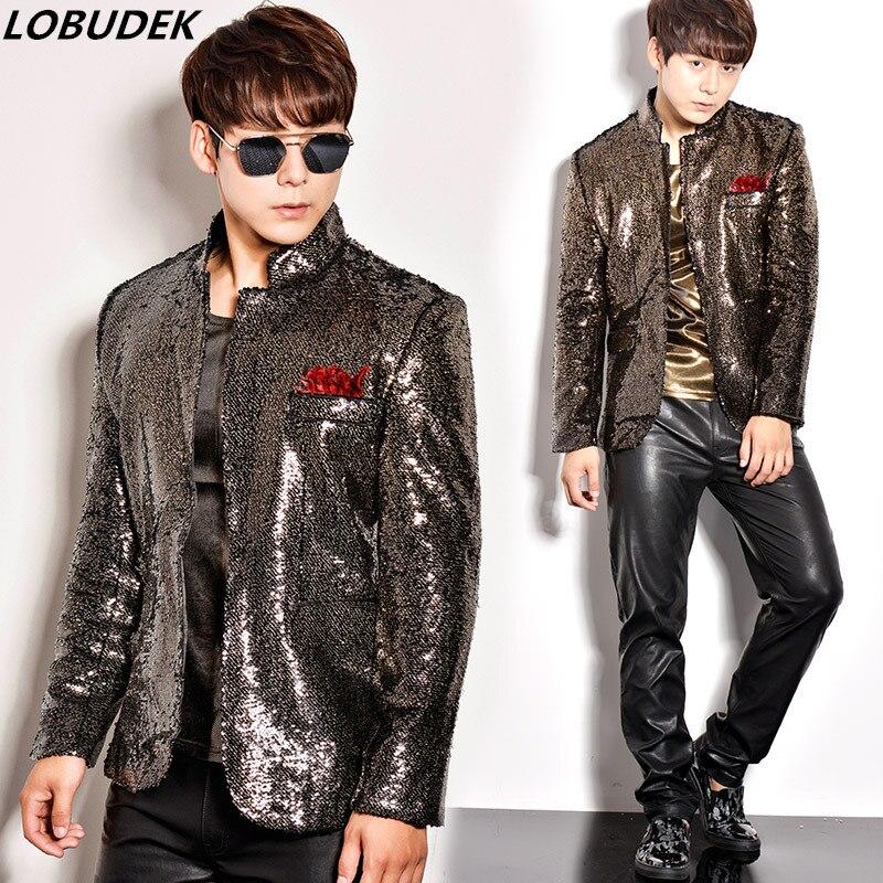 male costumes bar nightclub party sequin jacket dress stage performance blazer fashion slim mens coat singer dancer show prom