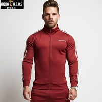 2017 Qiu Dong BrandHoodies Brand Clothing Men Hoody Zipper Casual Sweatshirt Muscle Men S Slim Fit