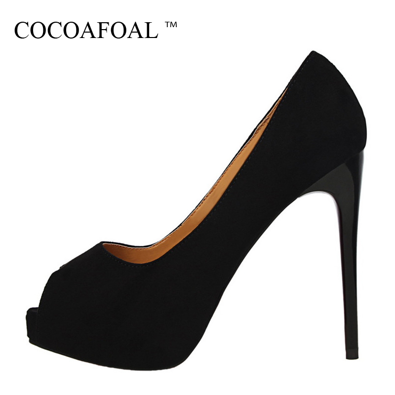 COCOAFOAL Woman Pink Sexy Pumps Fashion Shallow Peep Toe Red Wedding High Heels Shoes Black Green Bridal Shoes Calzado Mujer women luxury shoes platform pumps bridal wedding lolita shoes black red beige bottom peep toe high heels fetish shoes size 4 16