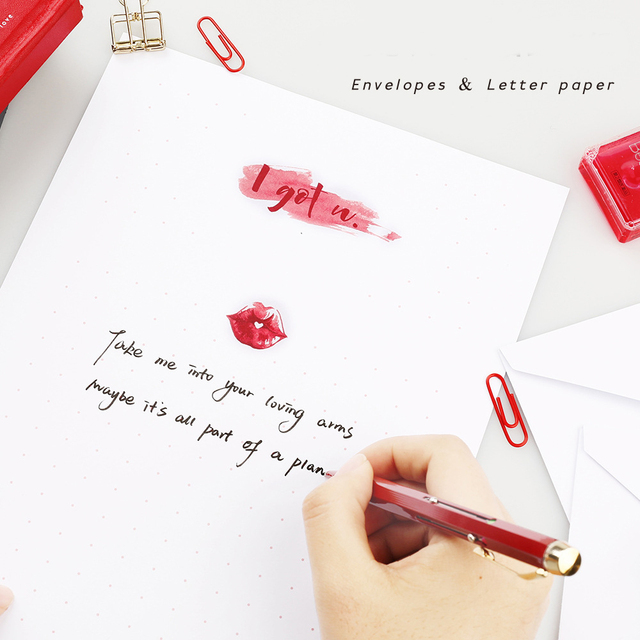 New Arrival 12 Sets Letter Pad  Paper 4 style Writting Love