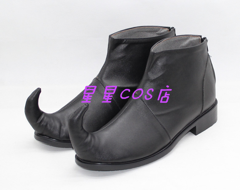 HUNTER HUNTER Hyskoa Hisoka Black Cosplay Shoes Boots X002
