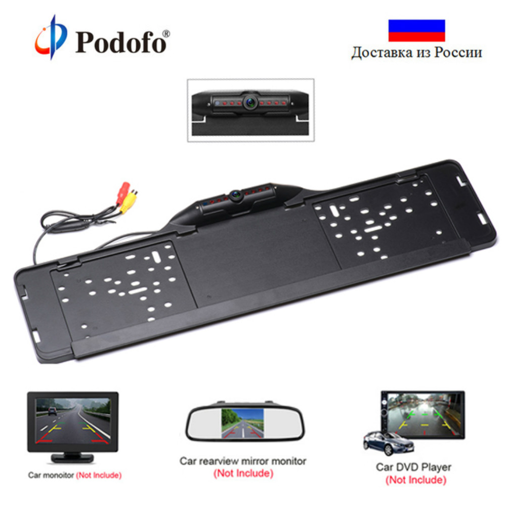 Podofo HD Car Rear View font b Camera b font Waterproof LED Night Vision EU European