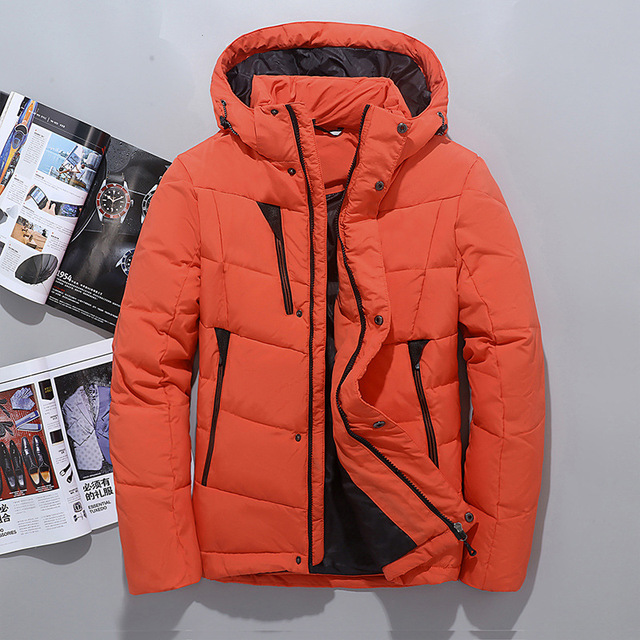 471df57dacf Winter Hooded Duck Down Jackets Mens Warm Thick Quality Down Coats Male Winter  Outerwear Down Parkas Man Puffer Jackets