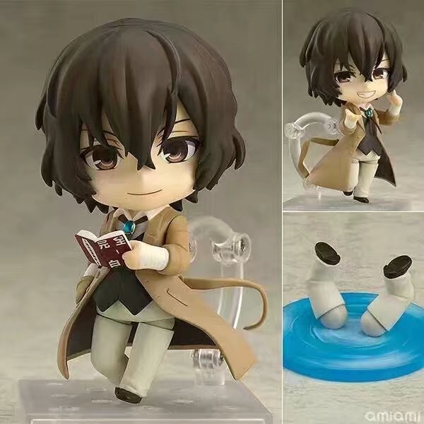10cm Nendoroid  657#  Bungo Stray Dogs/ Stray Dogs Dazai osamu action figure collectible model toys for girls