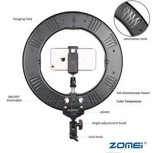 Image 2 - Zomei 調光可能な写真撮影写真スタジオリングライト 3200 5600 18K LED 照明電話アダプタのためのライブ放送ビデオ