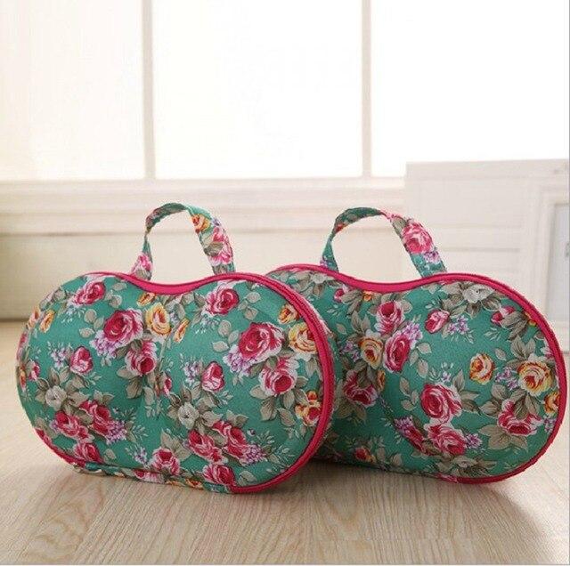 Nuevo de alta calidad para proteger a las mujeres sujetador ropa interior de viaje caso bolsa de almacenamiento de la caja de almacenamiento portátil de viaje conveniente utilizar