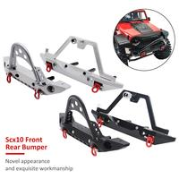 Aluminum Front Rear Bumper Bull Bar W/ Spare Tire Carrier For 1:10 Axial SCX10 JEEP SCX10 II 90046 90047 TRX 4 TRX4 RC Car