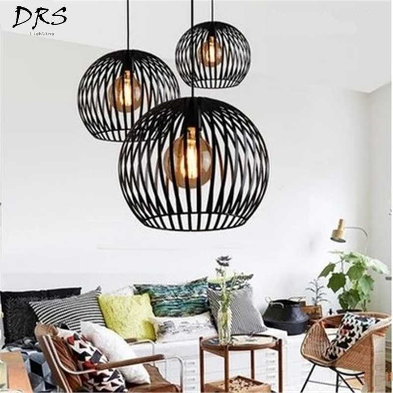 Vintage Industrial Style Pendant Lamps Nordic Creative Simple Iron Pendant Lights for Restaurant Bar Cafes Living Room Lights
