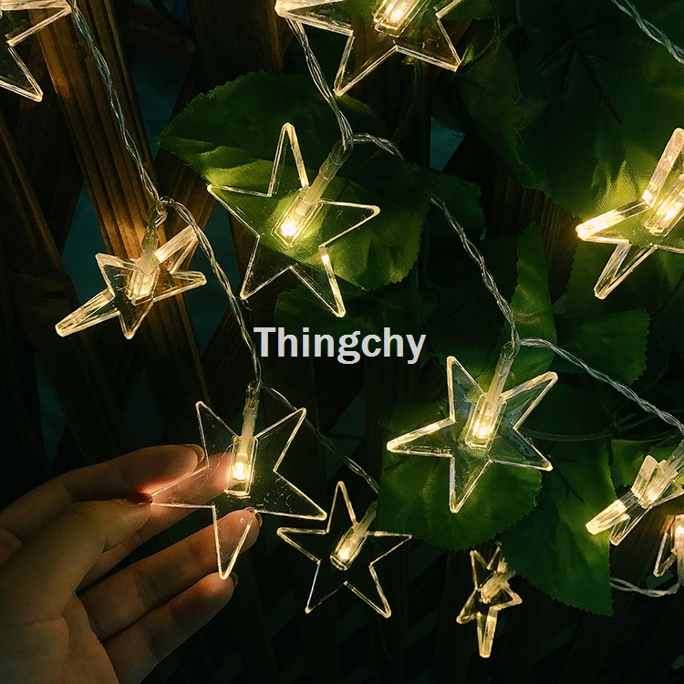 3M 20LED Five Ponited Star String Fairy Flashing Porch Lights Battery Operated Christmas Outdoor Wedding Garland Decorations