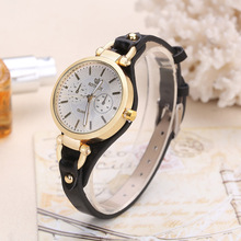 hot deal buy fashion brand hot sale womens watches casual gold leather quartz watches ladies bracelet watches dames horloges